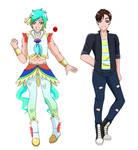 Oceana Precure: Takumi Kaito/Cure Nalu by LeviJaeger1
