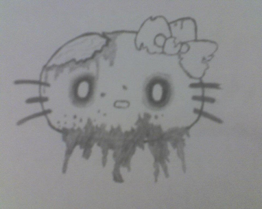 Hello Kitty Zombie by stonerloner