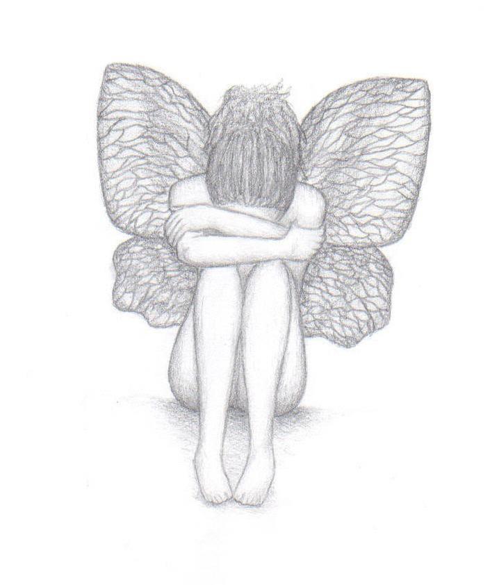Sad Angel Drawing Sad Angel by Carie 96