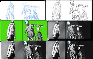 Making Comic Undertale XD by audrevil