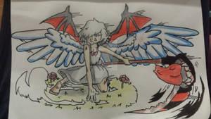 Demon and Angel Girl