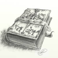 Spellcraft book LineArt by Lu-s