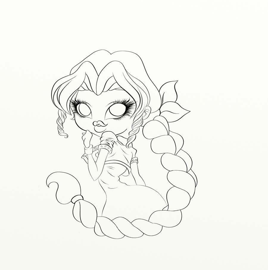 Line Art Digital : Lu s aerith line art digital by on deviantart