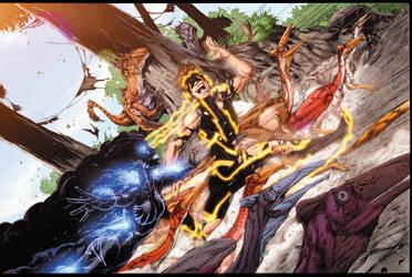 Teen Titans 10 Cover by drewdown1976