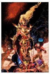Teen Titans 11 Cover by drewdown1976