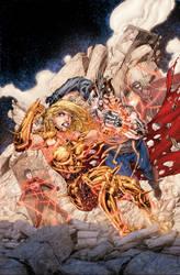 Teen Titans 12 Cover by drewdown1976