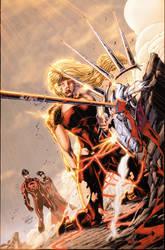 Teen Titans 13 Cover by drewdown1976