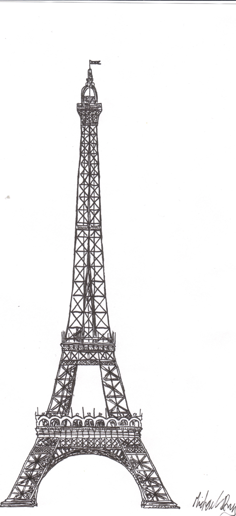 easy eiffel tower doodle - photo #12