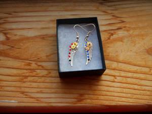 Simple Winged Steampunk Earrings