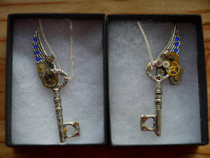 Set of Winged SteamPunk keys