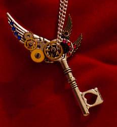 SteamPunk Triple Wing Necklace