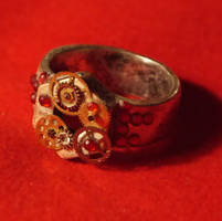 Steampunk style Ring