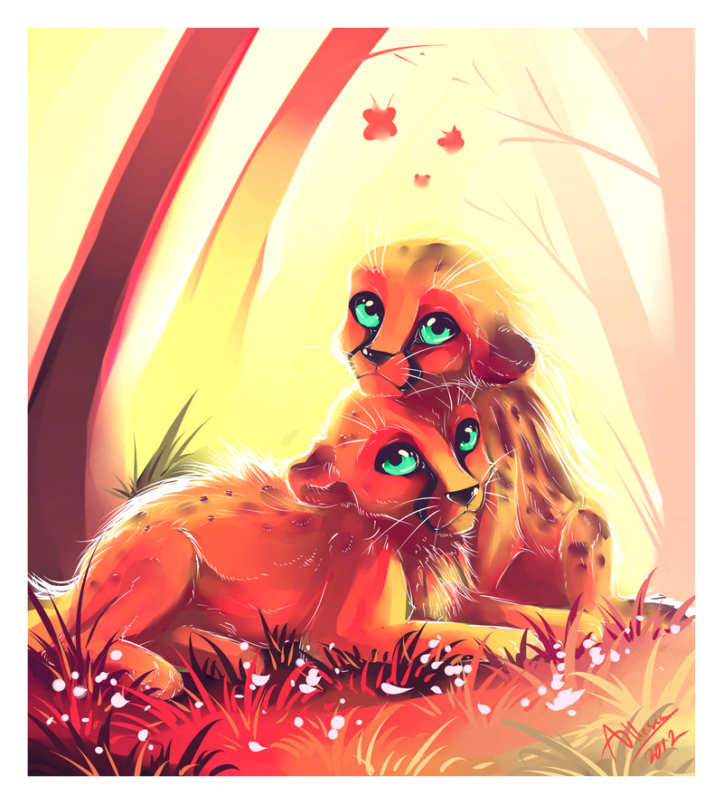 The Wonderful Rare King-Spotless Cheetahs by AllesiaTheHedge
