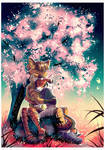 COMM: Under Sakura by AllesiaTheHedge