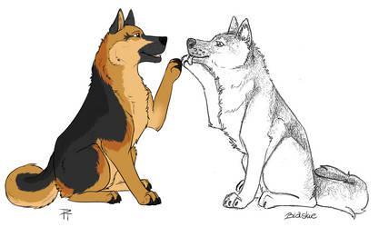 [Collab] Two doggos