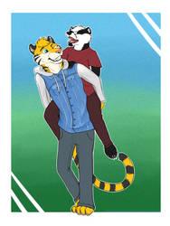 #4 IA - tiger Muirfinn and badger Stephen