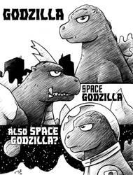 Godzillas by drakefenwick
