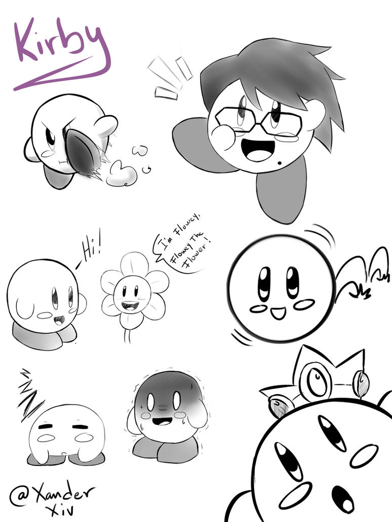 Kirby sketchy! by XanderXiv64