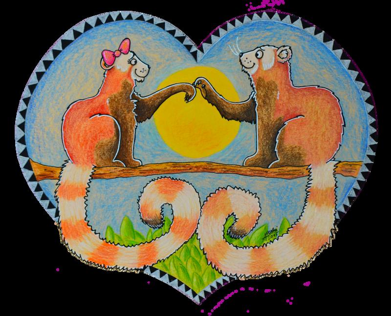 Happy Panda Valentine! by AllerleiArt
