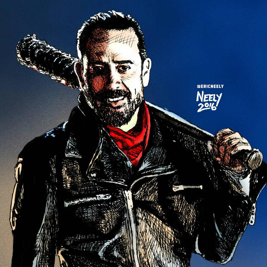 Negan From The Walking Dead By Mightyneely