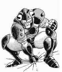 Inktober Day 4: Judor, Anura Knight