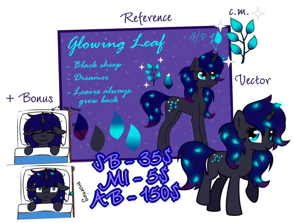 Pony adopt - Glowing Leaf