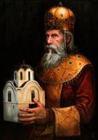 King Stefan Ourosh Milutin by Darko-Stojanovic-Art