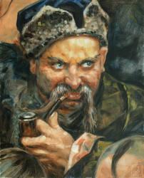 Master study after Ilya Yefimovich Repin
