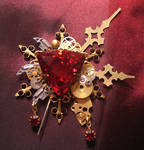 'Bloody Aether' brooch by Space-Invader