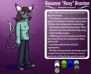 Roxy Braxton Reference Sheet (Preternatural) by SplatterDashCartoons