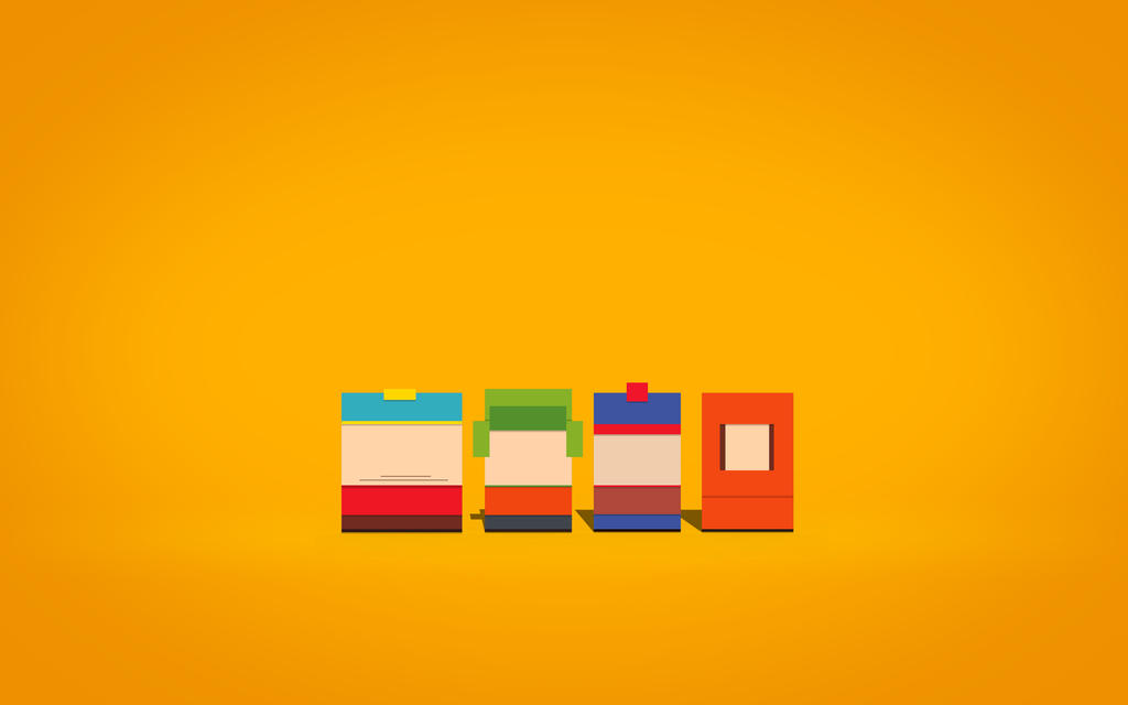 South Park Minimalism By LuckeBjucke