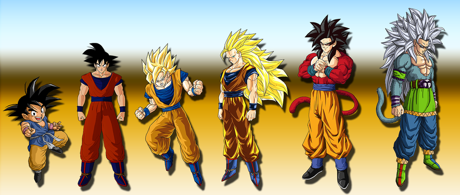 Baby Goku Ssj5 Goku - Kid to SSJ5 by ...