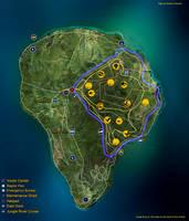Fan made Isla Nublar map by fluxcreations