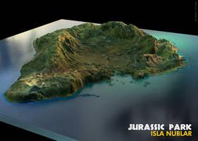 Isla Nublar - Jurassic Park by fluxcreations
