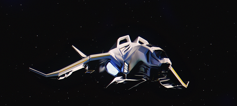 Weaponized space shuttle by fluxcreations