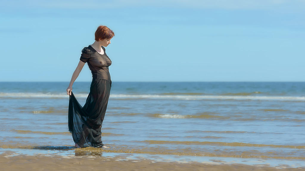 Sheer on the Beach by Fox2006