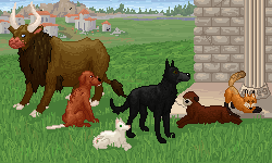 Lost Athens Somedogs Pixel art by CorvusRaven