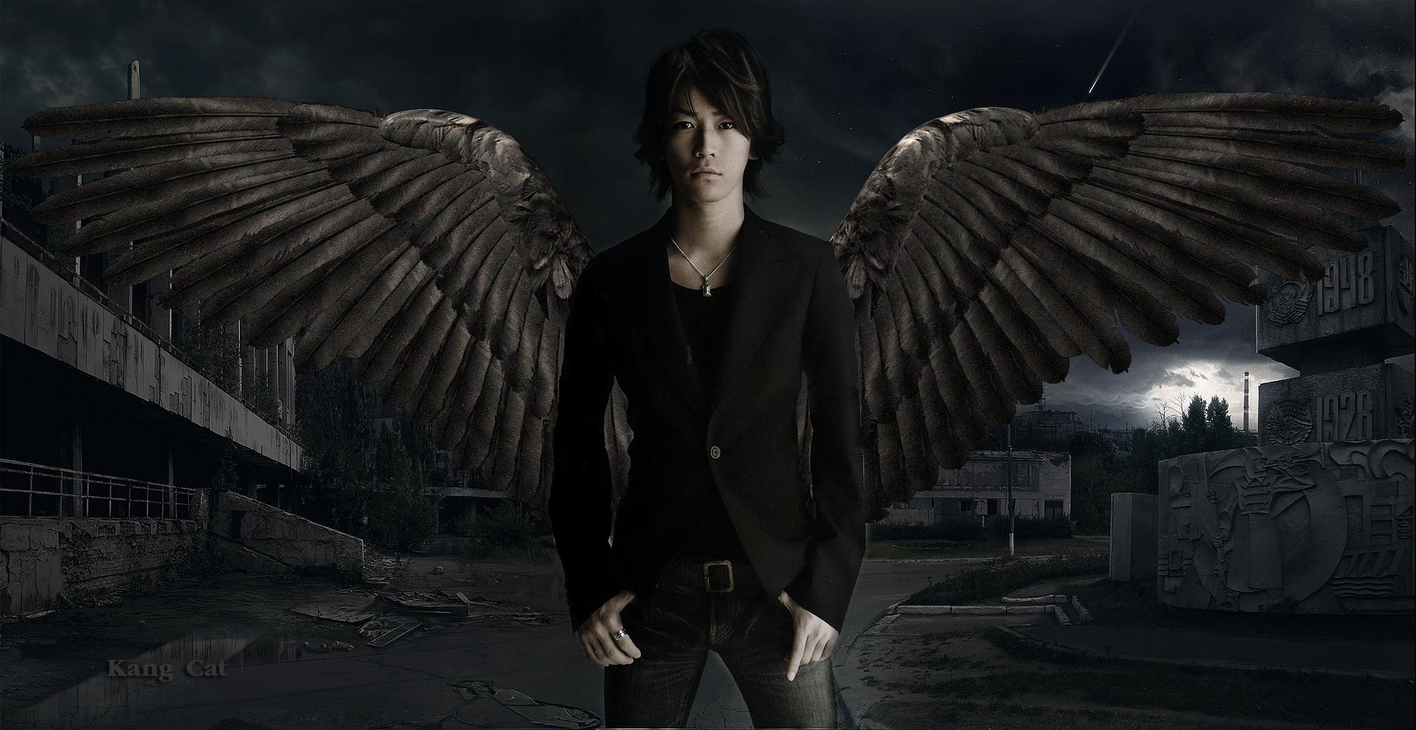 Miyavi Kyomu Aka Kamenashi Kazyua Kamenashi_kazuya__dark_angel_by_kang_cat-d6xffn6