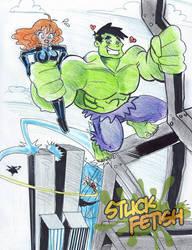 Hulk and Black Widow by yomerome