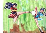 Lin VS Ayase by yomerome