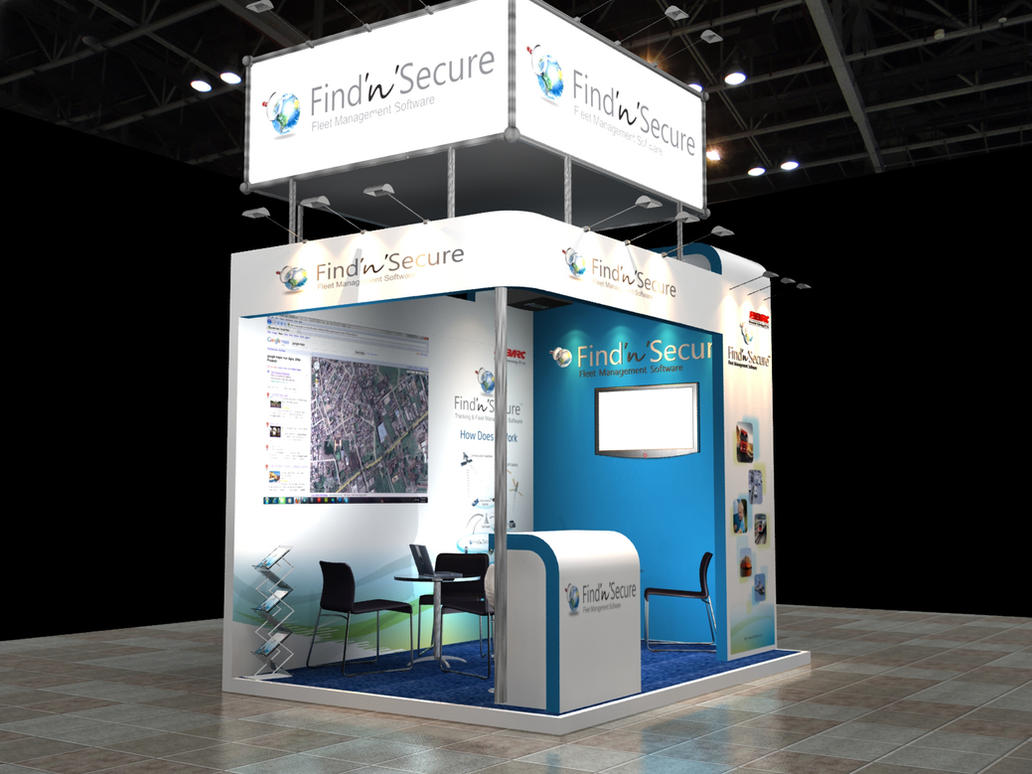 Stand For Exhibition : D exhibit stand for gitex by manindar on deviantart