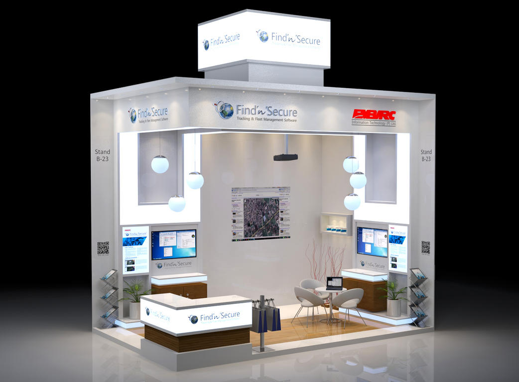 Exhibition stand design by Manindar
