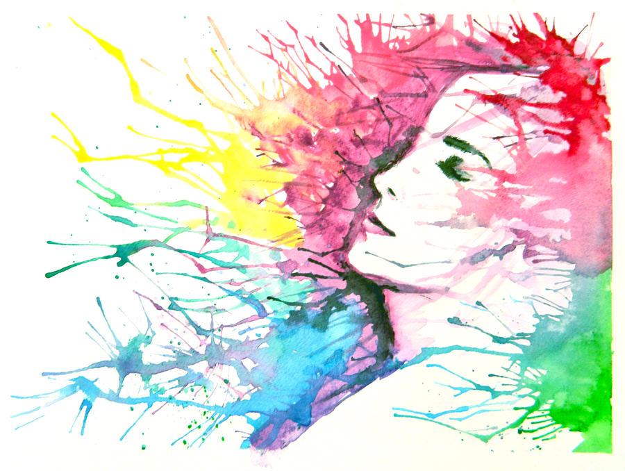 Splatter Paint Art On Canvas