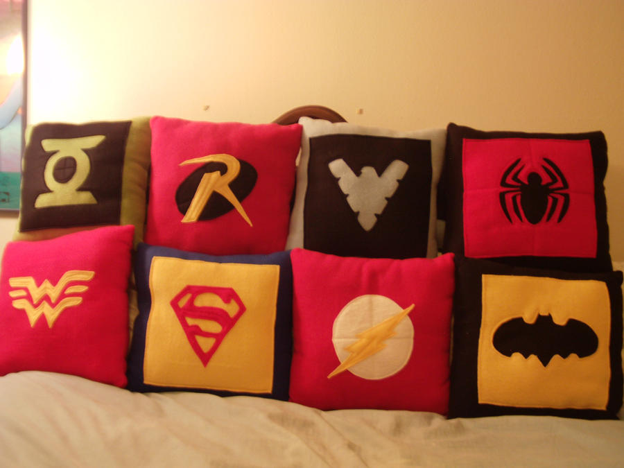 Hero Pillows Assemble! by nenfere