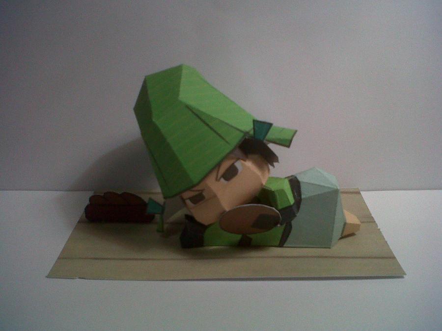 Chibi Mori Motonari Papercraft by hoshiterasu
