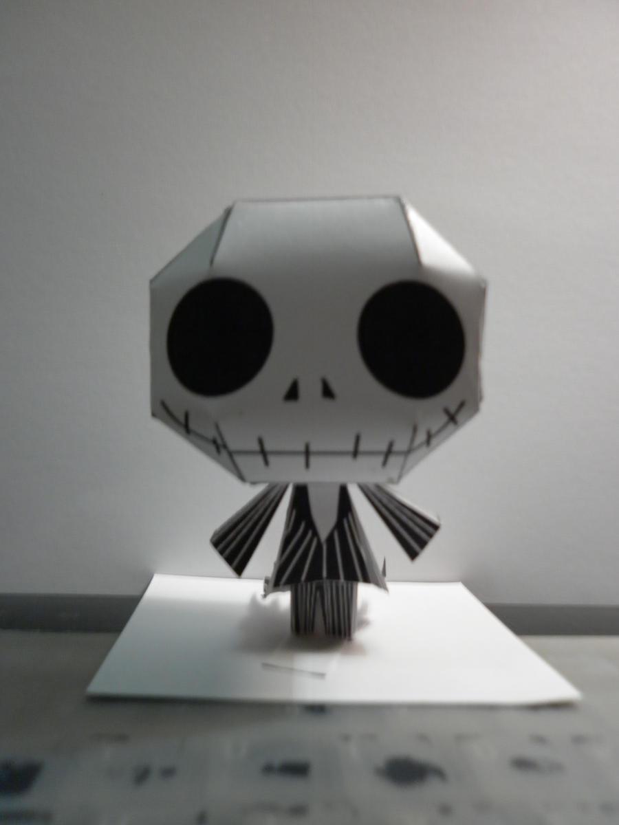 Chibi Jack Skellington Papercraft by hoshiterasu