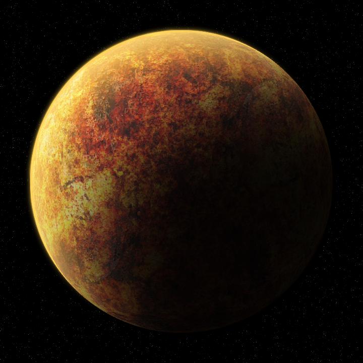 Molten Rock Planet by TheSchmittMeister