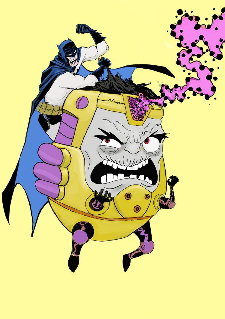 BATMAN VS MODOK by POPEvonDOOM
