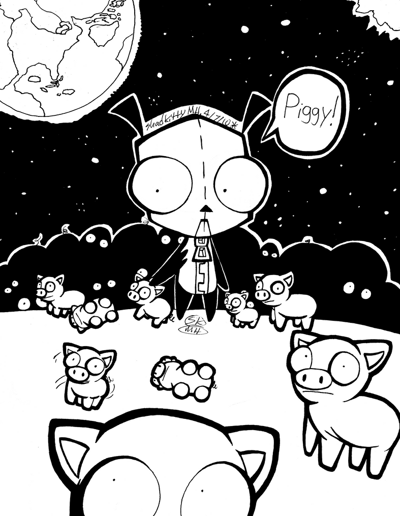 gir invader zim coloring pages - photo#42