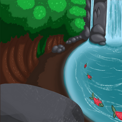 Water-Fawn Background by ArtStormDragon